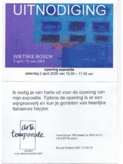 Expositie Arte Temporale - 2005