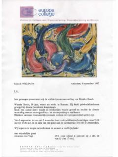 Expositie Europa College - 1997